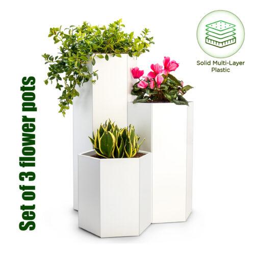white plant holder