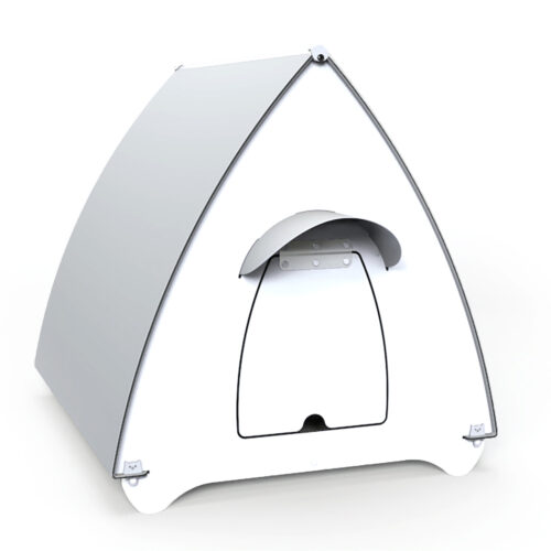Waterproof Indoor and Outdoor Cat House for Small Medium Cats white