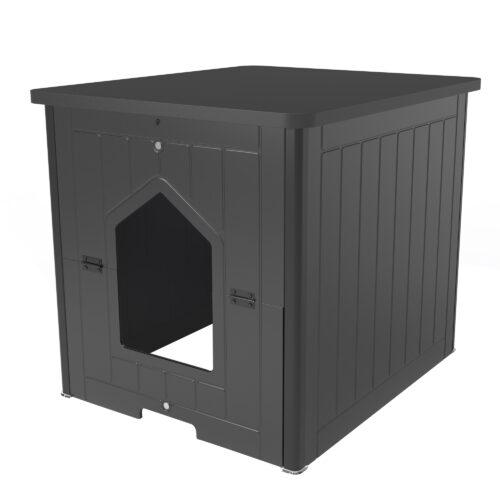 cat litter box furniture black
